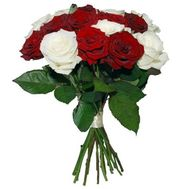 """""""17 red and white roses"""" in the online flower shop roza.zp.ua"""