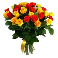 """""""29 red and yellow roses"""" in the online flower shop roza.zp.ua"""