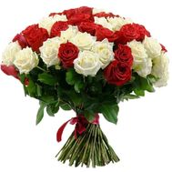"""""""51 red and white rose"""" in the online flower shop roza.zp.ua"""