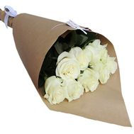 """9 white roses"" in the online flower shop roza.zp.ua"