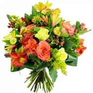 """""""Bouquet of roses and alstroemerias"""" in the online flower shop roza.zp.ua"""