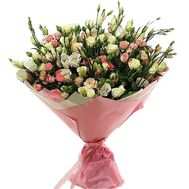 """""""Bouquet of 19 bush roses and 10 caustic roses"""" in the online flower shop roza.zp.ua"""
