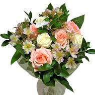 """""""Bouquet of 7 roses and 4 alstroemerias"""" in the online flower shop roza.zp.ua"""