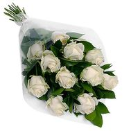 """""""Bouquet of 11 white roses"""" in the online flower shop roza.zp.ua"""