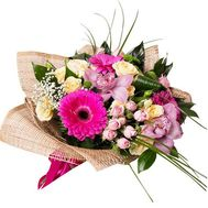 """Bouquet of orchids, bush roses and gerberas"" in the online flower shop roza.zp.ua"