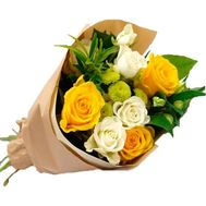 """""""Bouquet of 6 roses, 2 alstromeries and 1 chrysanthemum"""" in the online flower shop roza.zp.ua"""