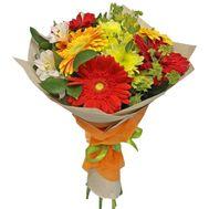 """Bouquet of gerberas, alstroemerias and chrysanthemums"" in the online flower shop roza.zp.ua"