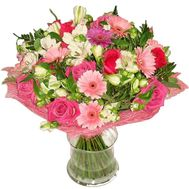 """""""Bouquet of roses, gerberas and alstroemerias"""" in the online flower shop roza.zp.ua"""