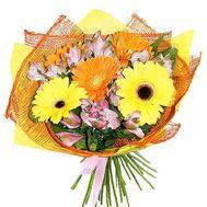 """Bouquet of gerberas and alstroemerias"" in the online flower shop roza.zp.ua"