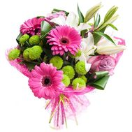"""""""Amazing bouquet with lily"""" in the online flower shop roza.zp.ua"""