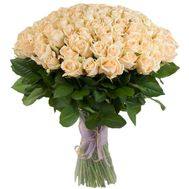 101 Creme Rose - flowers and bouquets on roza.zp.ua