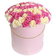 101 роза в коробке в Запорожье - цветы и букеты на roza.zp.ua
