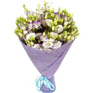 White violet eustoma in bouquet - flowers and bouquets on roza.zp.ua