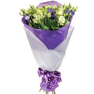 White and violet eustoma - flowers and bouquets on roza.zp.ua