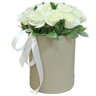 White roses in a tall box - flowers and bouquets on roza.zp.ua