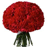 Large bouquet of carnations - flowers and bouquets on roza.zp.ua