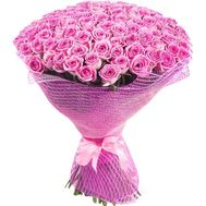 Bouquet of 101 pink roses - flowers and bouquets on roza.zp.ua