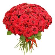Bouquet of 55 roses - flowers and bouquets on roza.zp.ua