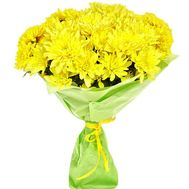 """""""Bouquet of yellow chrysanthemums"""" in the online flower shop roza.zp.ua"""