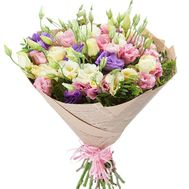 Bouquet of multicolored lisianthus - flowers and bouquets on roza.zp.ua