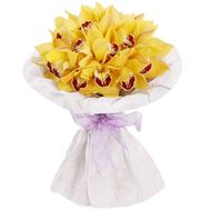 Exotic orchids in bouquet - flowers and bouquets on roza.zp.ua
