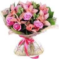 Glamorous bouquet of orchids and roses - flowers and bouquets on roza.zp.ua