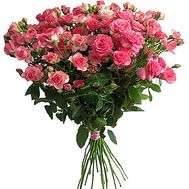 Beautiful bouquet of small-color roses - flowers and bouquets on roza.zp.ua