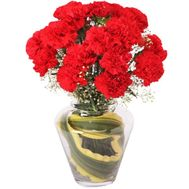 Red carnations in a bouquet - flowers and bouquets on roza.zp.ua