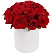 Red roses box - flowers and bouquets on roza.zp.ua
