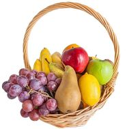 Small fruit basket - flowers and bouquets on roza.zp.ua