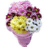 A small bouquet of chrysanthemum - flowers and bouquets on roza.zp.ua