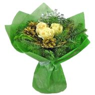 A small Christmas bouquet - flowers and bouquets on roza.zp.ua