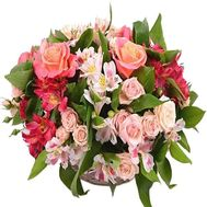 Nice flower basket - flowers and bouquets on roza.zp.ua