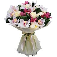 Lovely bouquet of orchids and roses - flowers and bouquets on roza.zp.ua