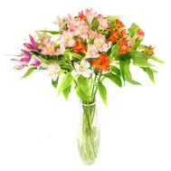 A small bouquet of alstroemerias - flowers and bouquets on roza.zp.ua