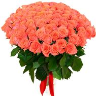 An unusual bouquet of 101 orange roses - flowers and bouquets on roza.zp.ua