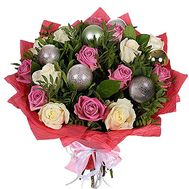 New Year bouquet with toys - flowers and bouquets on roza.zp.ua