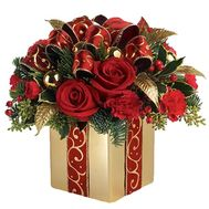 New Year''s composition in a box - flowers and bouquets on roza.zp.ua