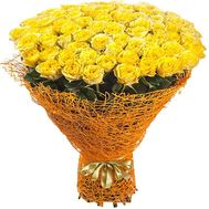 Bouquet of 101 yellow roses - flowers and bouquets on roza.zp.ua