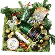 Gift box for the New Year - flowers and bouquets on roza.zp.ua
