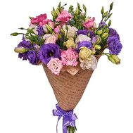 Multicolored eustoma in kraft paper - flowers and bouquets on roza.zp.ua