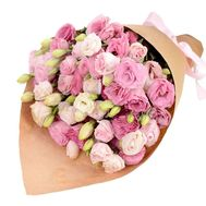 Pink eustoma in bouquet - flowers and bouquets on roza.zp.ua