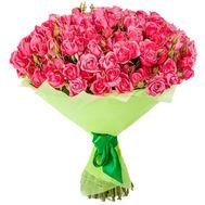 Розовые кустовые розы в букете - цветы и букеты на roza.zp.ua