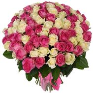 Chic bouquet of 101 roses - flowers and bouquets on roza.zp.ua