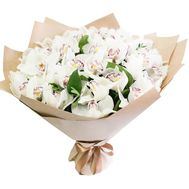 Aerial bouquet of orchids - flowers and bouquets on roza.zp.ua