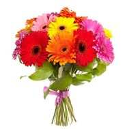Bright bouquet of gerberas - flowers and bouquets on roza.zp.ua