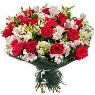 """""""Красно белый букет цветов"""" в интернет-магазине цветов roza.zp.ua"""