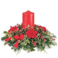 Table Christmas composition - flowers and bouquets on roza.zp.ua