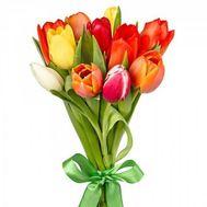 """""""Букет из 11 разноцветных тюльпанов"""" в интернет-магазине цветов roza.zp.ua"""