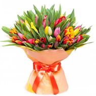 """""""Bouquet of 101 tulips"""" in the online flower shop roza.zp.ua"""